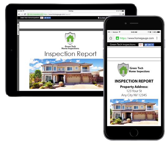 Mobile-friendly home inspection reports